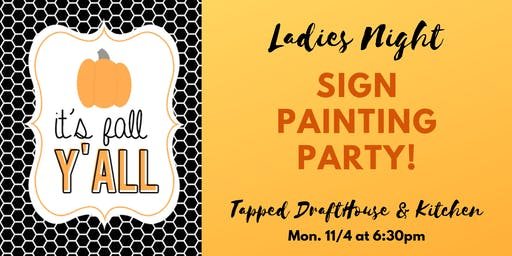 Ladies Night Wood Sign Painting Party