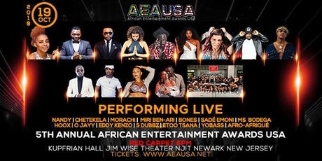 5th Annual African Entertainment Awards, USA tickets