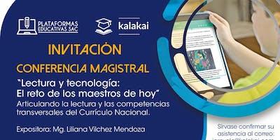 Conferencia Magistral: Lectura y tecnología, el reto de los maestros de hoy