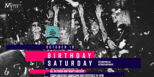 Myth Presents Birthday Saturday *Celebrating All October Birthday's*