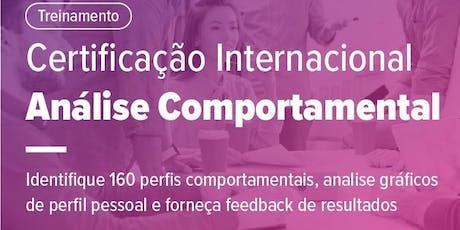 Certificação Internacional Análise & Gestão Comportamental ingressos