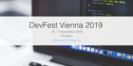 DevFest Vienna 2019 tickets