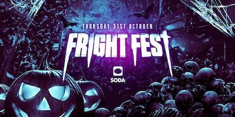 FRIGHT FEST HALLOWEEN @ Soda Cardiff tickets