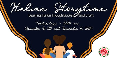 Italian Storytime - Learning Italian through books and crafts tickets