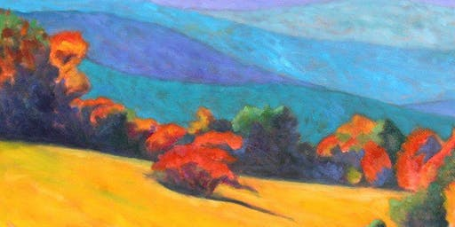Expressionism-Style Autumn Countryside Painting