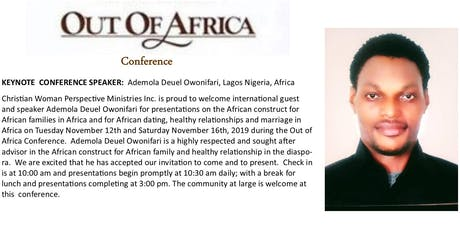 Out of Africa Conference tickets