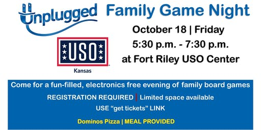 Unplugged Family Game Night OCTOBER 18