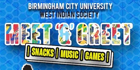 BCU WIS - MEET & GREET tickets