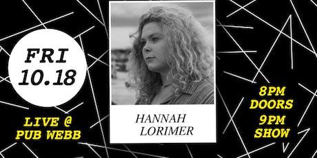 Hannah Lorimer, Joshua Bation and Keely Sibilia Live tickets