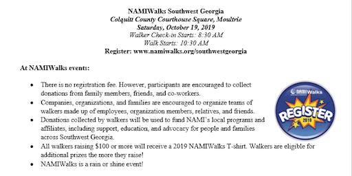 NAMIWalks Southwest Georgia 2019