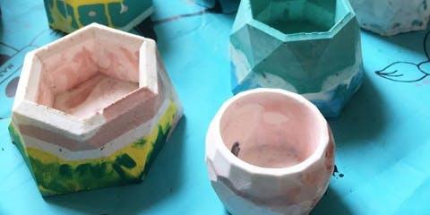 Jesmonite Plant Pot Workshop at Crafty Praxis