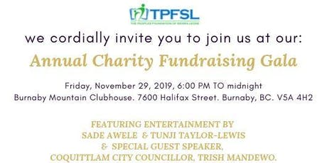 TPFSL Annual Charity Fundraising Gala tickets