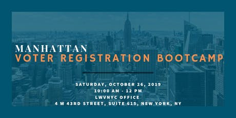 League of Women Voters of the City of New York Voter Registration Training October 26, 2019 tickets