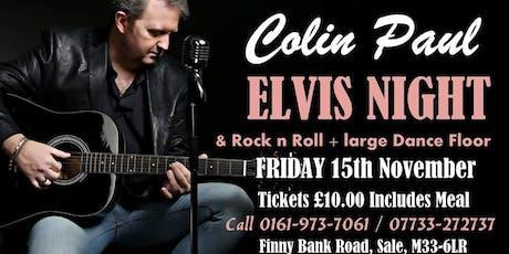 Colin Paul Elvis Night Trafford 2019 tickets