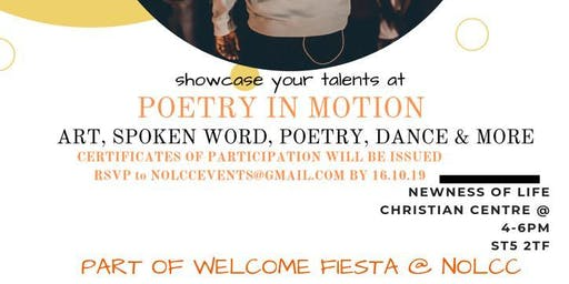 Poetry in motion; Spoken word, art, dance and poetry