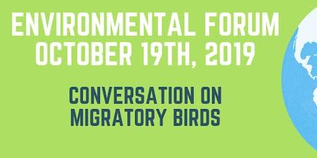 Conversation on Migratory Birds - October 2019 Environmental Forum tickets