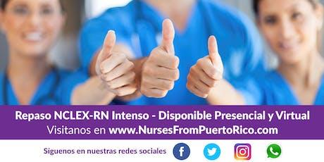 Repaso NCLEX-RN Intenso - Disponible Presencial y Virtual tickets
