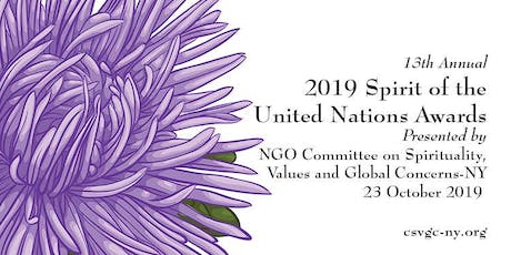 2019 Spirit of the United Nations Award Ceremony tickets
