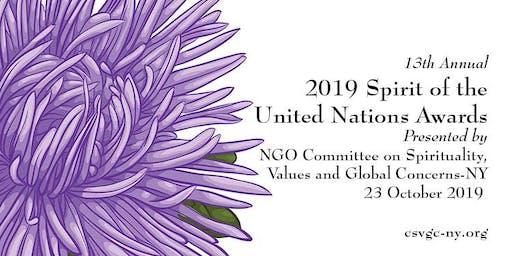 2019 Spirit of the United Nations Award Ceremony