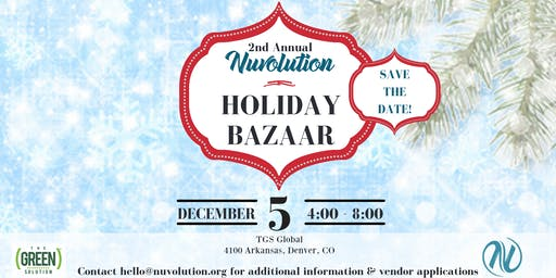 Nuvolution Holiday Bazaar Vendors