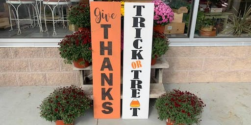 Painted Fall Porch Sign