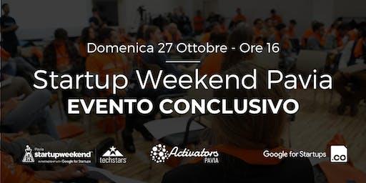 Evento Conclusivo - Startup Weekend Pavia 2019