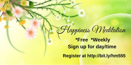 """FREE """"Happiness Meditation"""" ONLINE  tickets"""
