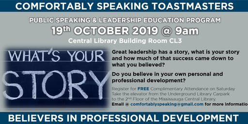 Public Speaking & Leadership Education @ Comfortably Speaking Toastmasters
