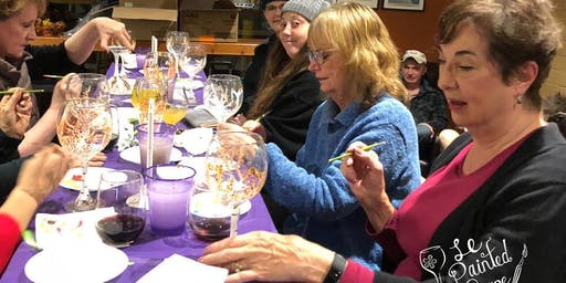 New Class! Wine or Beer Glass Painting Party Workshop at Boring Winery