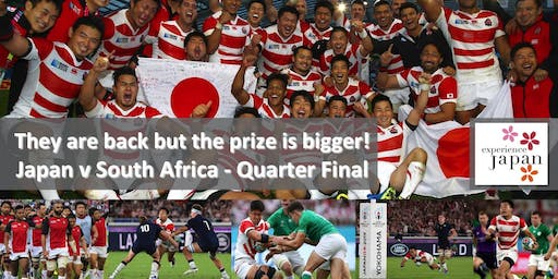 Japan v South Africa in the Rugby World Cup Quarter-Final