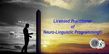 Licensed Practitioner of Neuro-Linguistic Programming® biglietti