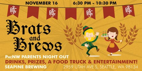 """PacNW """"Brats and Brews"""" - Parents Night Out! tickets"""
