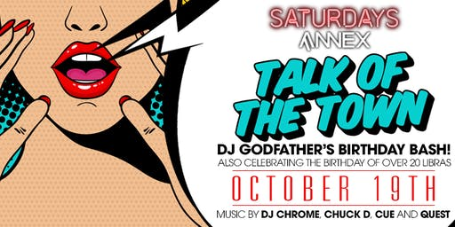 Talk Of The Town at The Annex on Saturday, October 19th!