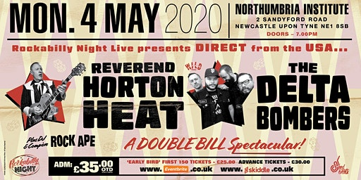 Reverend Horton Heat + Delta Bombers & Support from Red Hot Riot