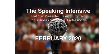 The Speaking Intensive February 2020 tickets