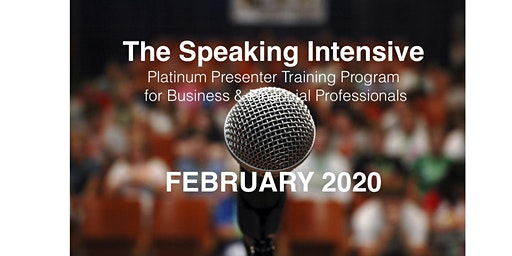 The Speaking Intensive February 2020