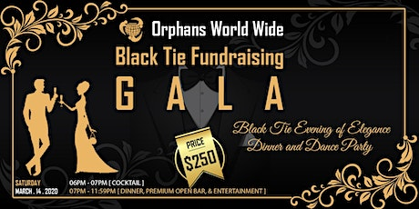 Black Tie Fundraising Gala, Maimi Beach March 14th, 2020 tickets