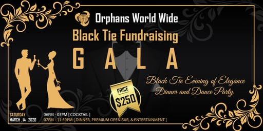 Black Tie Fundraising Gala, Maimi Beach March 14th, 2020