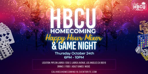 Cali HBCU Homecoming Happy Hour Mixer