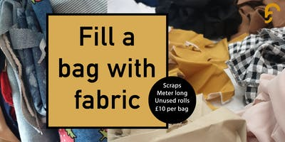 Fill a bag with fabric