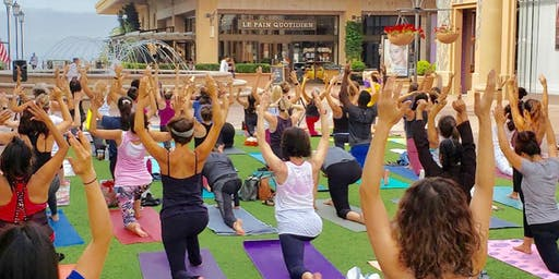 Fashion Island Yoga Event