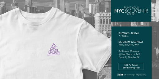 Sunday Sip & Paint NYC Brooklyn Bridge T Shirt