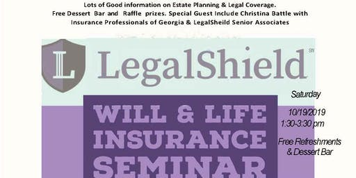 Will & Life Insurance Seminar with LegalSheild & Insurance Professionals Of Georgia