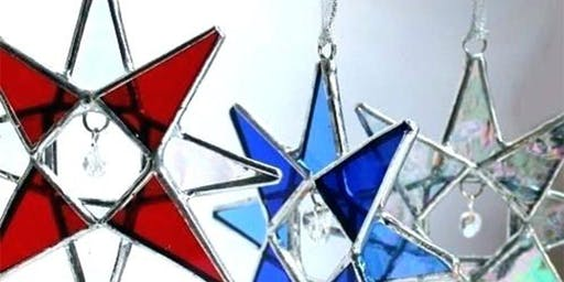 Stained Glass Holiday Ornaments and Tree-Toppers