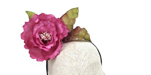 Thermoplastic flower fascinator millinery workshop with Maor Zabar