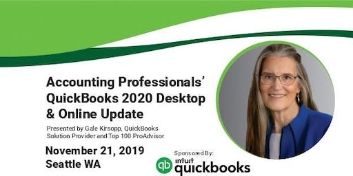 QuickBooks Desktop & Online Update for Accounting Professionals