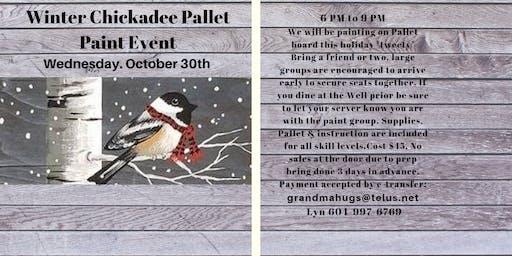 Winter Chickadee Pallet Paint Event