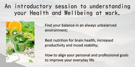 Health and Wellbeing at work tickets