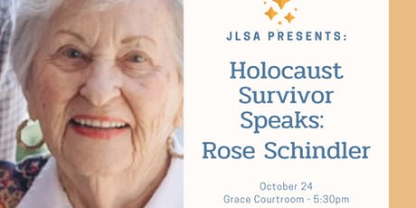 Holocaust Survivor Speaks: Rose Schindler tickets