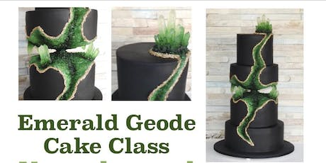 Emerald Geode Cake Decorating Class tickets